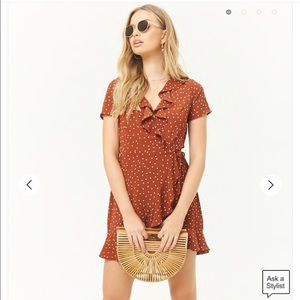 Forever 21 Polka Dot Wrap Dress S New NWT Red